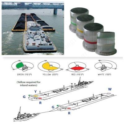 Solar Warning Light For Barge Ship Use