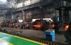 cooling-bed for rebar mill