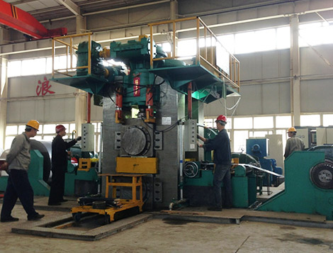8-hi strip rolling mill