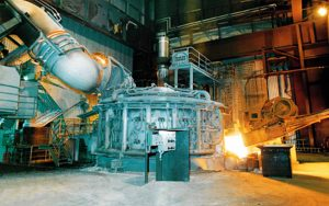 electric arc furnace for steel mill