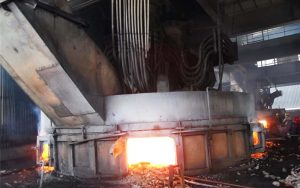 submerged electric arc furnace for steel rolling mill machine