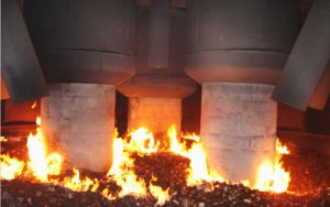 submerged arc furnace for rolling mill