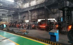 working steel rolling mill plant