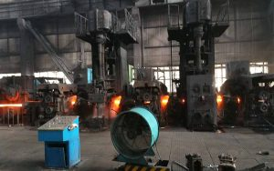 running steel rolling mill plant