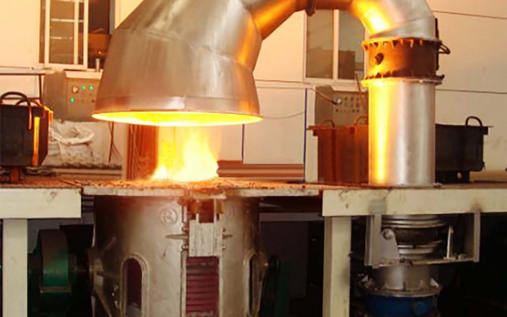 running-induction-furnace